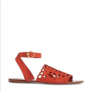 Tory Burch / NEW perforated ankle strap sandals